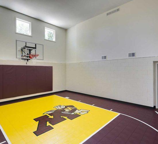 After photo of indoor Golden Gopher sportcourt