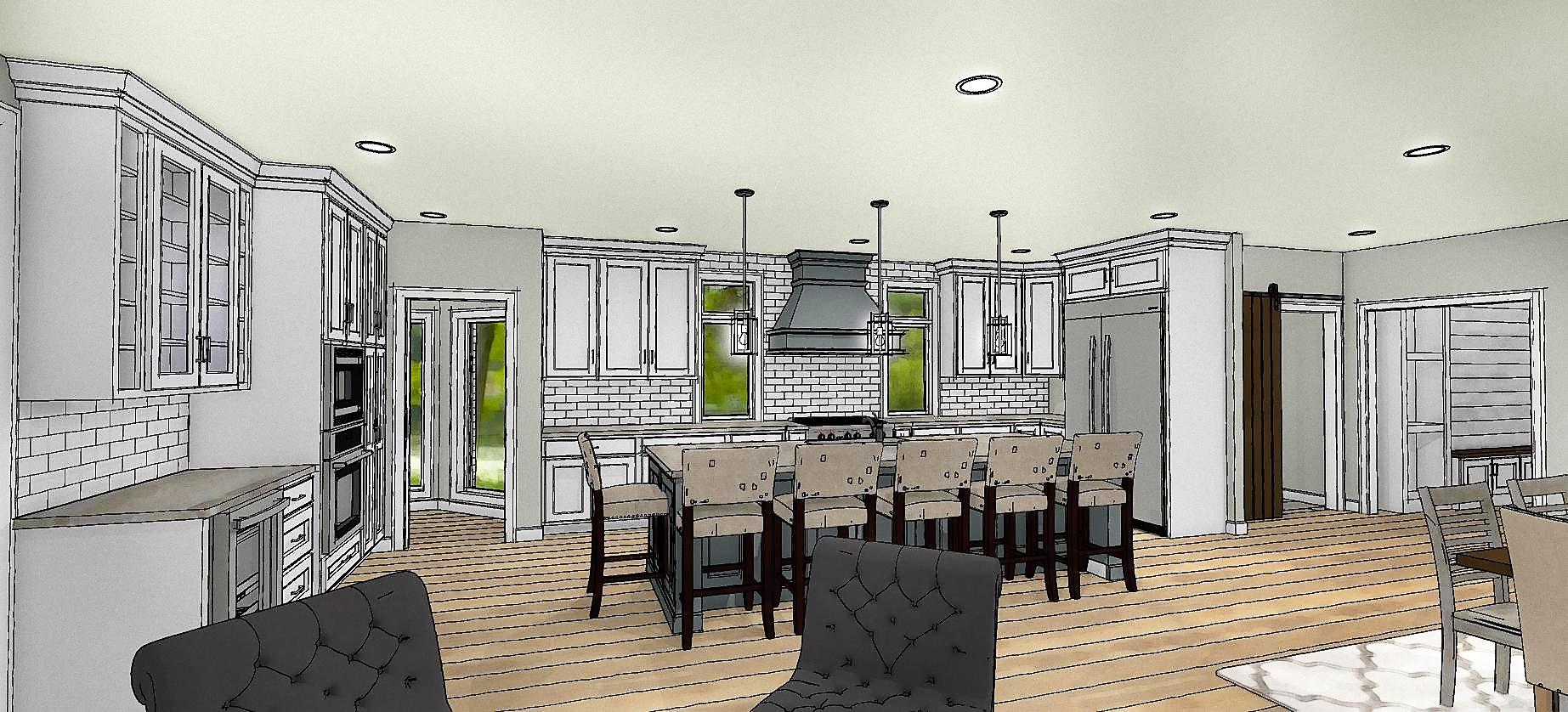 Rendering concept of kitchen