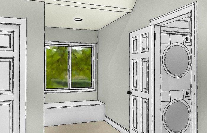 Rendering concept of dormer bedroom