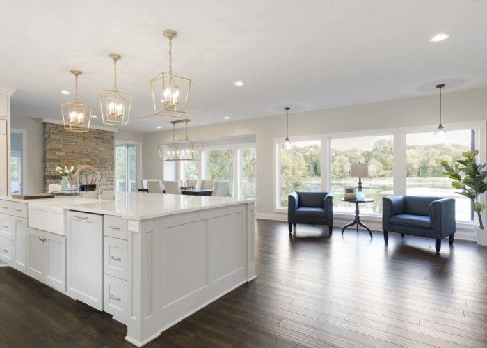 Shorewood Renovation Kitchen Island And Lounge