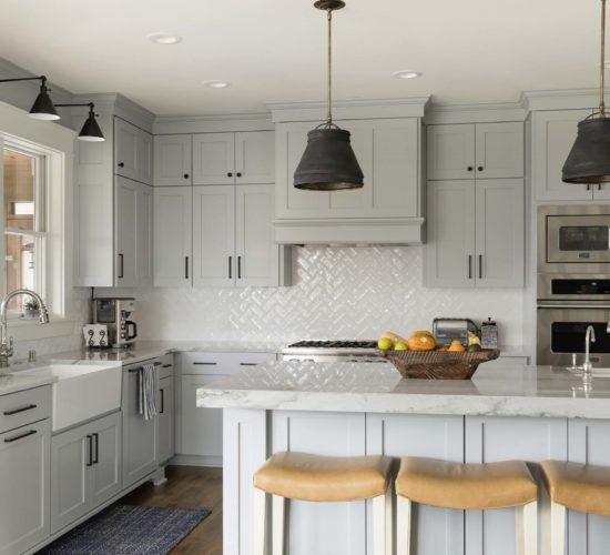 Refreshing Main Level Remodel Kitchen Black Light Fixtures