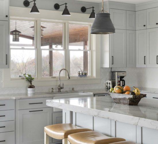 Refreshing Main Level Remodel Kitchen Island Overlooking Breakfast Nook