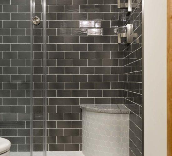 Refreshing Main Level Remodel Shower