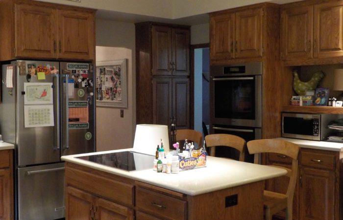 Main Level Remodel Woodbury Kitchen Angle Before